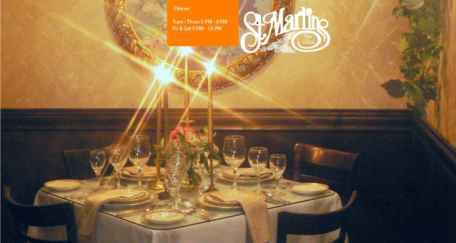 Romantic Dining St Martin S Wine Bistro Dallas Tx
